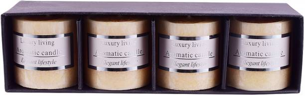 ARCHIES Aromatic Scented Candles with Candle vanilla fragrance set of 4 for home, 1Pc Candle