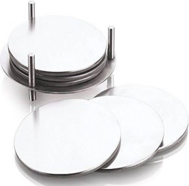 Kitchen Delli Round Steel Coaster Set