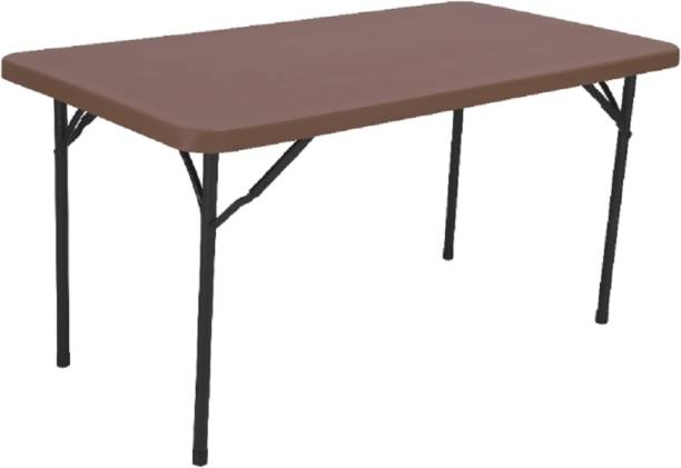 Supreme Buffet Blow Moulded Dining Table,Globus Brown Plastic Outdoor Table