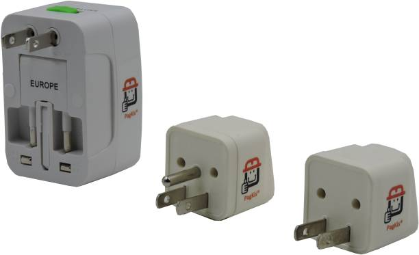 PagKis USA Canada Plug Converter Adapters - Pack of 3 Conversion Plugs for US Travellers Three Pin Plug