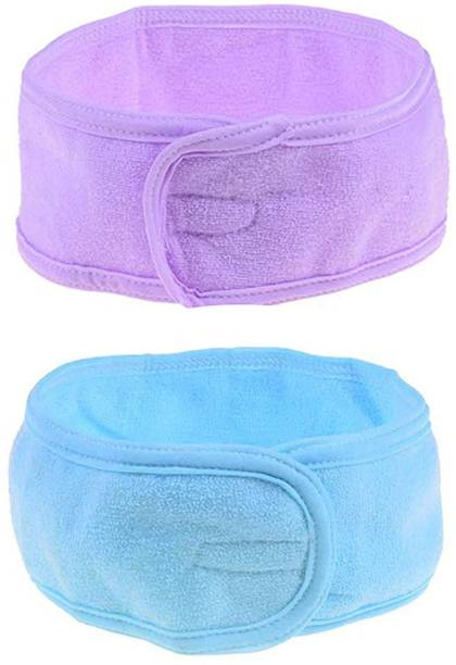 Fameza Combo of 2, Facial Head Band, Hair Band for Facial Time, Facial Head Band for Saloon Accessories, 20 Gram, Pack of 1 Rubber Band