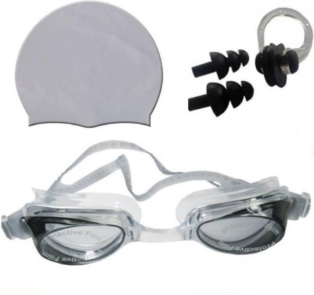 Kamni Sports SWIMMING COMBO SET (CAP ,GOOGLES ,EAR PLUGS) CB-44 Swimming Kit
