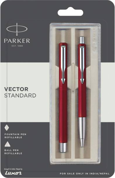 PARKER Vector Stdard CT(FP+BP) Pen (Red) Pen Gift Set