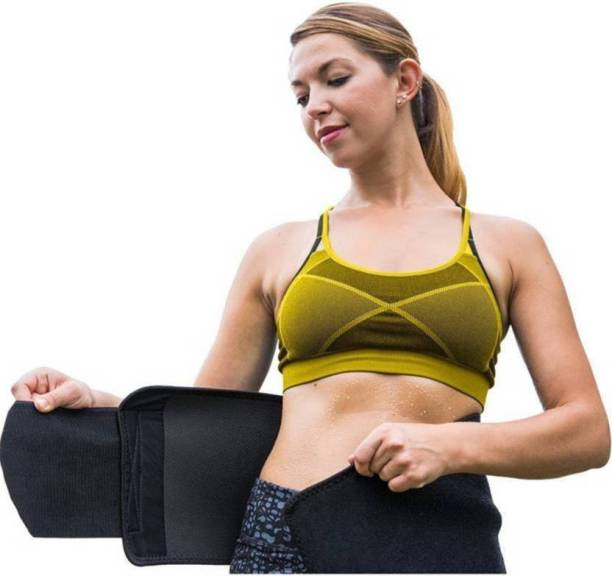 d7bee5b33 Kanantraders Sweat Waist Trimmer Fat Burner Belly Tummy Yoga Wrap Black  Exercise Body Slim look Belt