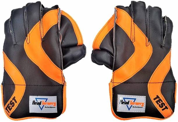 HeadTurners Cricket Gloves- Test with Nice Carry Cover, Wicket Keeping Gloves
