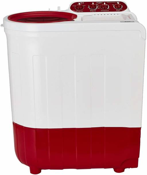 Whirlpool 7.2 kg Ace Wash Station Semi Automatic Top Load Red, White