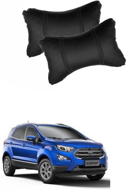 KANDID Black Leatherite Car Pillow Cushion for Ford