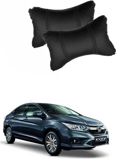 KANDID Black Leatherite Car Pillow Cushion for Honda