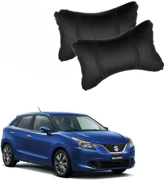 KANDID Black Leatherite Car Pillow Cushion for Maruti Suzuki