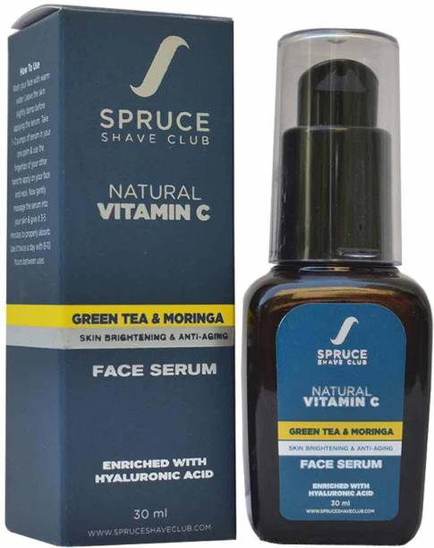 SPRUCE SHAVE CLUB Vitamin C Face Serum With Hyaluronic Acid For Anti-Ageing, Anti-Wrinkle & Anti-Acne