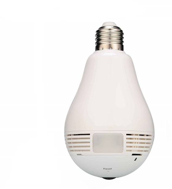 Power Up Wireless Panoramic Bulb 360° IP Camera,1.3MP, Fisheye Vision, Remoting Monitoring Home Security Camera Led Bulb Light Security Camera