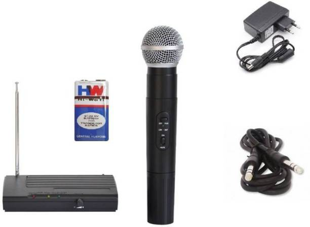 Divinext Handheld 68 Cordless Microphone (VHF) Wireless Microphone Wireless HandHeld Microphone LX-68 Indoor, Outdoor PA System