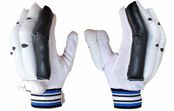 HeadTurners Cricket Batting Right Hand Gloves- Featherlite (Color May Vary) (Black, Boys) Batting Gloves