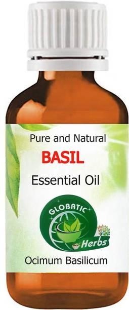 GLOBATIC Herbs BASIL Essential Oil 30ml(Ocimum Basilicum)100% Natural, Pure and Undiluted