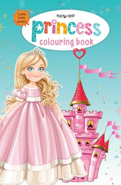Giant Book Series Princess Colouring Book