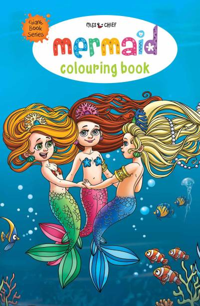 Giant Book Series Mermaid Colouring Book