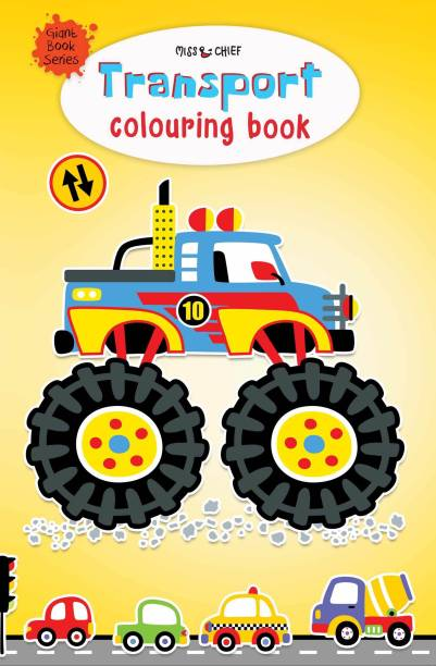 Giant Book Series Transport Colouring Book