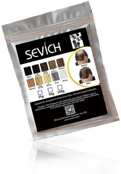 Sevich Hair Building Fibers Hair Concealer Refill -25 G (Brown) B07MXMZ7GG Extreme Hair Volumizer Keratin protein hair building fiber