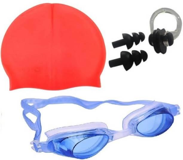 Kamni Sports SWIMMING COMBO SET (CAP ,GOOGLES ,EAR PLUGS) CB-105 Swimming Kit