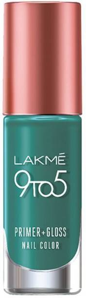 Lakmé 9 to 5 Primer Plus Gloss Nail Color Teal Deal