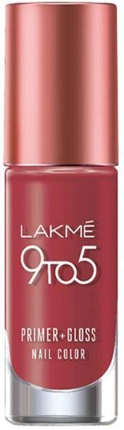 Lakmé 9 to 5 Primer Plus Gloss Nail Color Ruby Rush