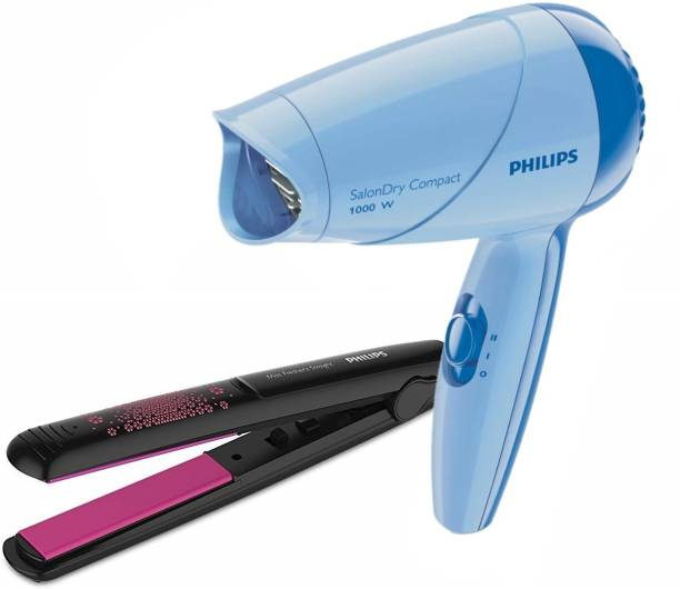 PHILIPS Hair Dryer HP8142/00 + Hair Straightener HP8302/06 Personal Care Appliance Combo