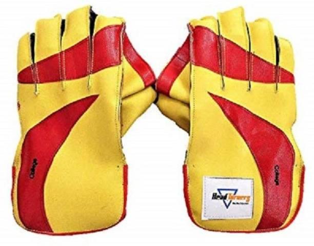 HeadTurners Cricket Wicket Keeping Gloves - College (Colour May Vary)(College,Youth) Wicket Keeping Gloves