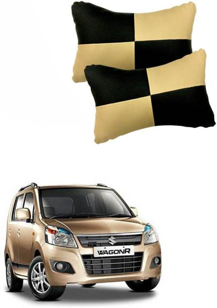 KANDID Black, Beige Leatherite Car Pillow Cushion for Maruti Suzuki