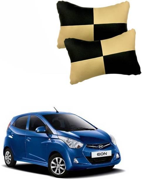KANDID Black, Beige Leatherite Car Pillow Cushion for Hyundai