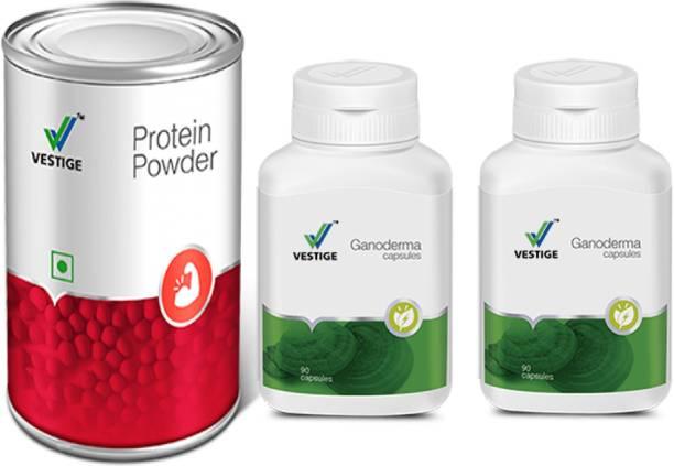 Vestige GANODERMA CAPSULES 2 pcs and protein powder 200g