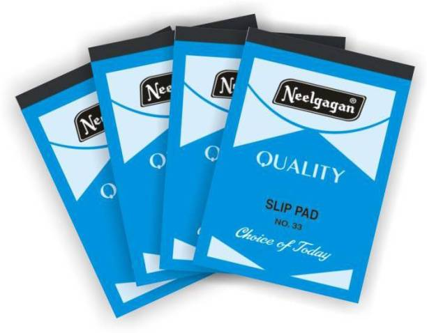 NEELGAGAN slip pad 33(Pack of 4) Regular Note Pad ruled 160 Pages