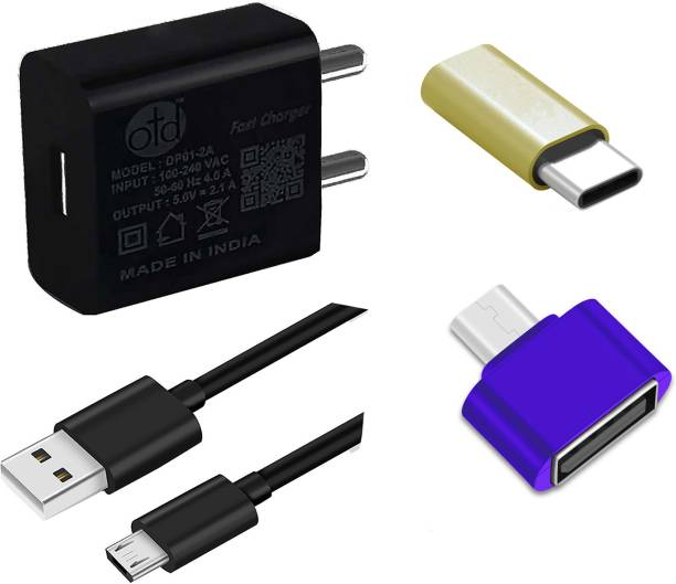 OTD Wall Charger Accessory Combo for Itel Wish A21, Itel Wish A41, Itel Wish A41 Plus, Itel Wish it1512, iVOOMi i1, iVOOMi i1S, iVOOMi i2, iVOOMi i2 Lite