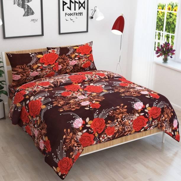 JARS 144 TC Polycotton Double Floral Bedsheet