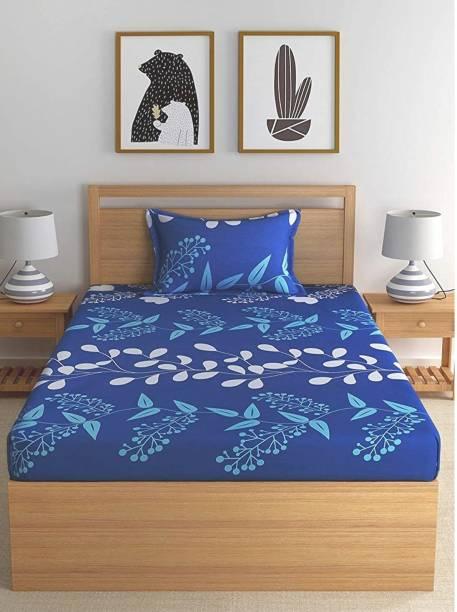 SHIVAAY HOMES 144 TC Polycotton Single Printed Bedsheet