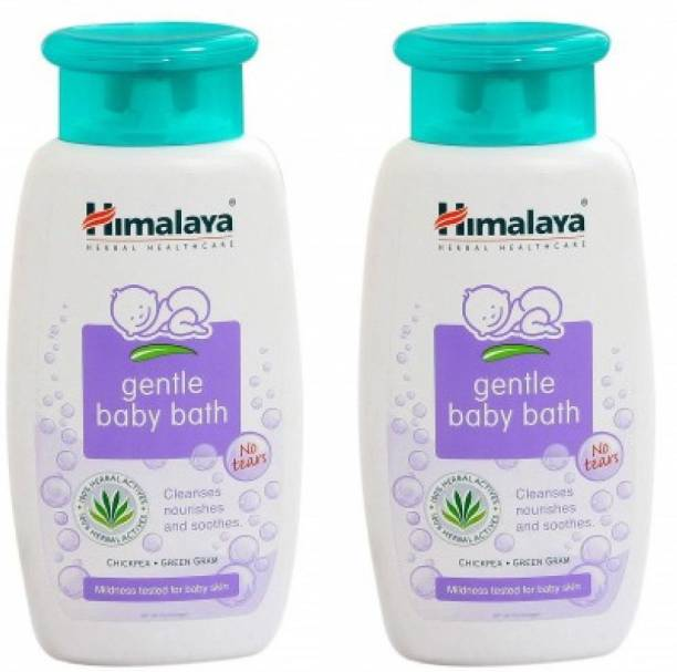 Himalaya Herbals Gentle Baby Bath (Combo Pack 400 X 2 = 800ml) Baby Wash, Free From Parabens, SLS/SLES and Phthalates, Dermatologist Tested