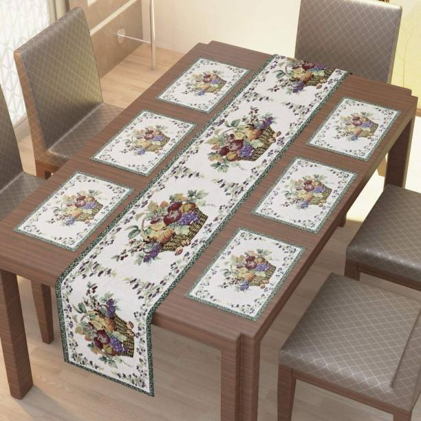 Home Utsav Multicolor Linen Table Linen Set