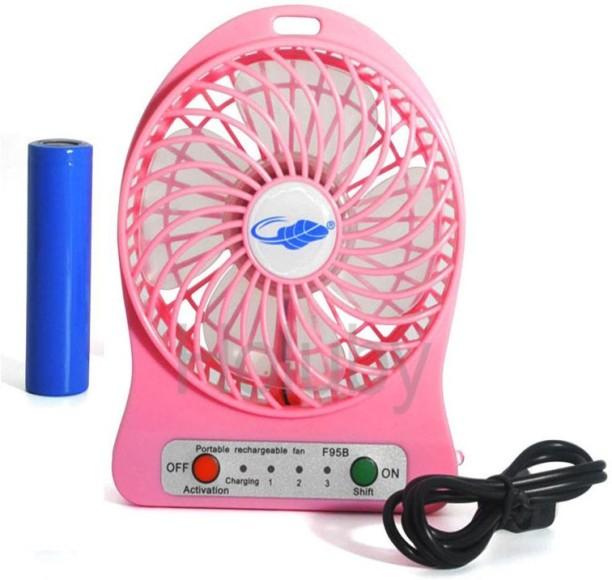 Mini USB Fan,Silent USB Clip Style Desktop Fan for Office Home Outdoor Pink