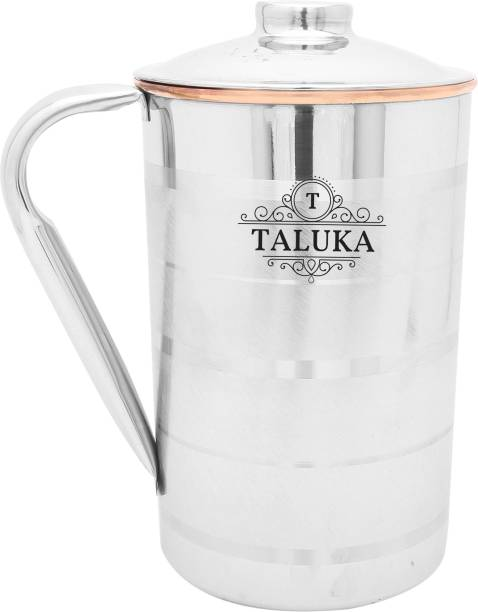 Taluka 1 L Water   4.2  x 6.8  inches approx   Copper Stainless Steel Jug Capacity 1000 ml Water Restaurant Hotel Ware Home Garden Kitchen Dinning  1