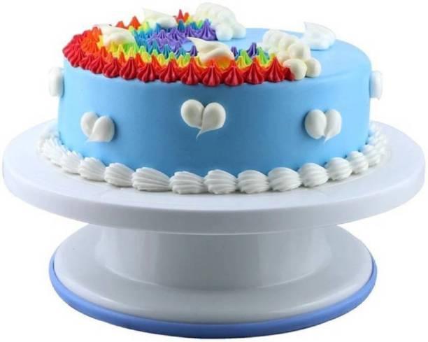 Vallbhi Enterprise Cake icing turntable Cake_Turntable_360_Rotation Plastic Cake Server cake stand table Plastic Cake Server