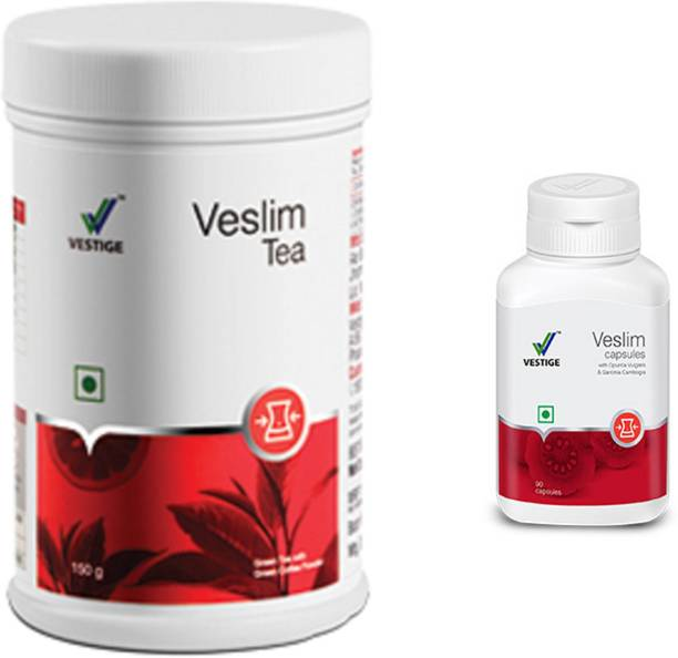 Vestige Veslim Capsules (90 Capsuls ) and veslim tea 150g