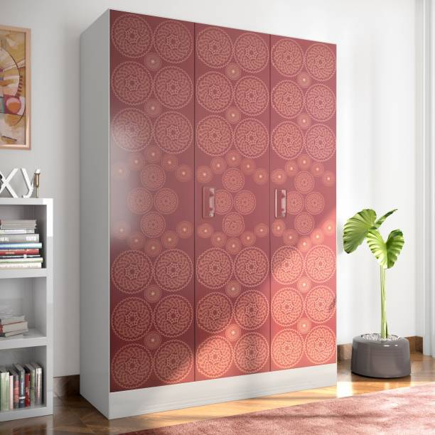 Godrej Interio Slimline Fusion 3 Door With Locker Metal Almirah