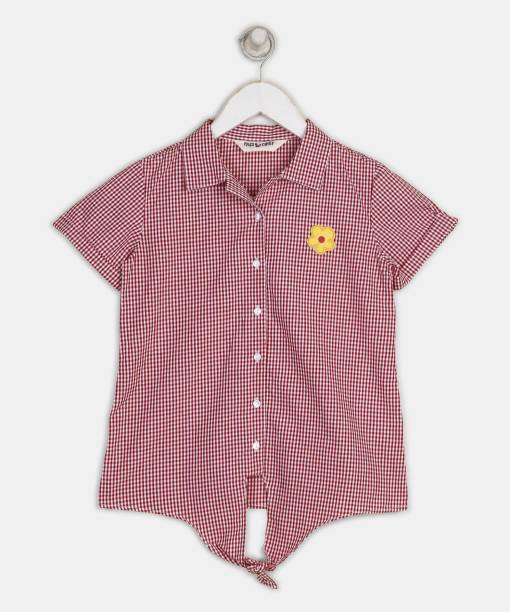 Miss & Chief Girls Casual Cotton Blend Shirt Style Top