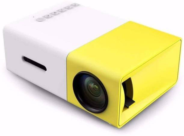 MEMOTA Portable LED Projector for Home, Office. HD Theater Support USB & HDMI 600 lm LED Corded Mobiles Portable Projector