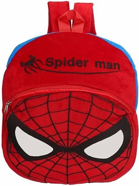3G Collections Spiderman Soft Toy Bag, Plush Bag, Teddy Bag School Bag