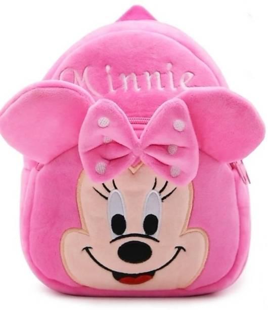 3G Collections Minnie Soft Toy Bag, Plush Bag, Teddy Bag School Bag