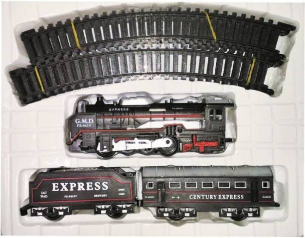 NV COLLECTION High Speed Metro with Round Track Battery Operated Train Set With Head Light