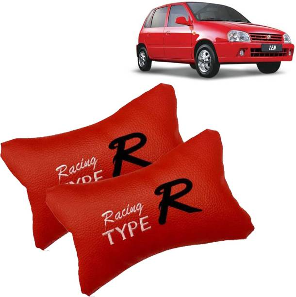 VOCADO Red Leatherite Car Pillow Cushion for Maruti Suzuki
