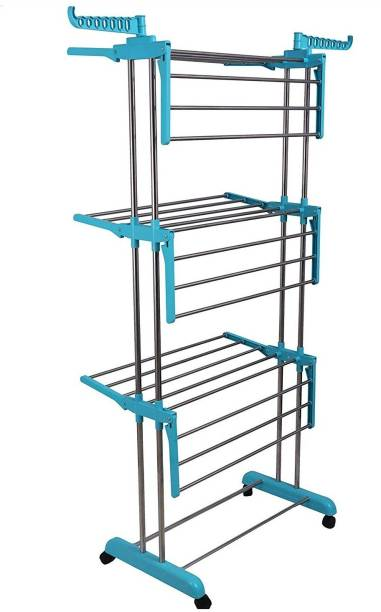 LivingBasics Steel Floor Cloth Dryer Stand LBCD_005