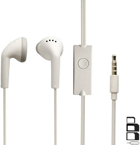 GoSale Headphone Accessory Combo for Reliance Lava CG142J, Reliance Lava C180, Reliance ZTE D286, Karbonn K9 Smart Plus, Karbonn Kphone 7, Karbonn K Stylo, Karbonn K24 Music, Karbonn K99 Pro, Karbonn K338n, Karbonn Aura Sleek Plus, Karbonn Frames S9, Karbonn K888 Metal, Karbonn K111 Superstar, Karbonn K324n, Karbonn Aura 1, Karbonn A9 Indian 4G, Karbonn K444 Shakti Earphones Original Like Headsets In-Ear Headphones Wired Stereo Bass Head Earbuds Hands-free With Mic, 3.5mm Jack
