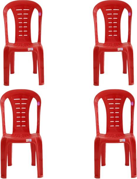 AVRO furniture 1103 MATT AND GLOSS ARMLESS CHAIR (PACK OF 4) Plastic Cafeteria Chair